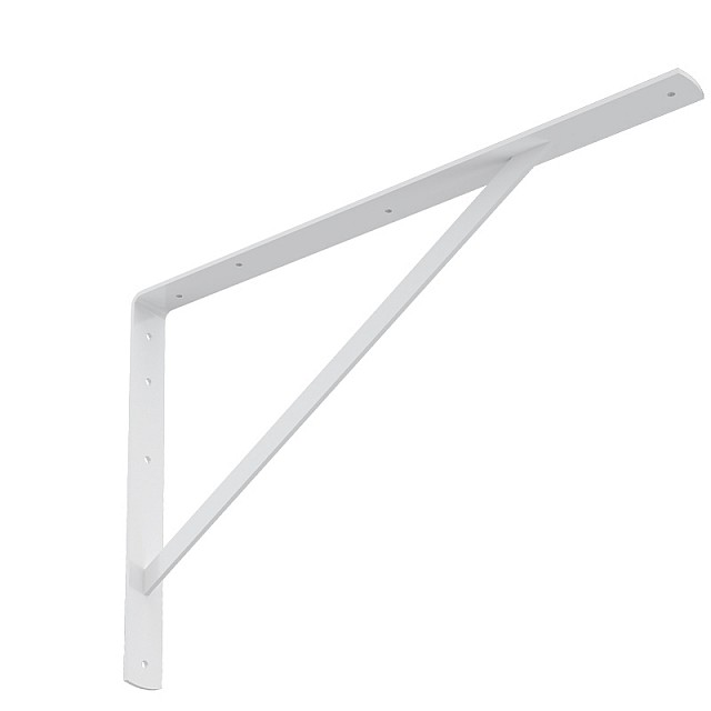 HEAVY DUTY SHELF BRACKET 600x375mm/150kg  WHITE